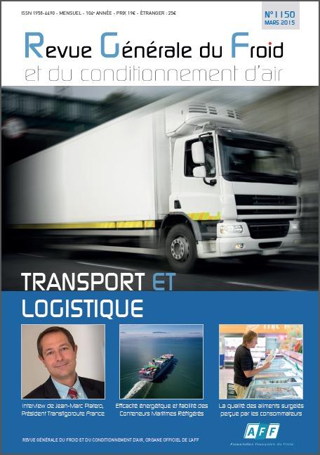 """Revue Générale du Froid : numéro """"transport et logistique"""""""