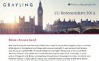 Conséquences referendum UK/EU 2016